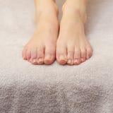 Foot beauty treatment Royalty Free Stock Photo