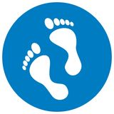 Foot at black frame, vector icon Royalty Free Stock Photos