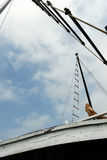 Foot on boat stock photography