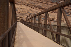 Foot bridge across Colorado river Royalty Free Stock Photo