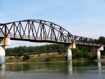 Foot Bridge In Edmonton Alberta. Foot bridge across the North Saskatchewan River, Edmonton Alberta in summer stock image