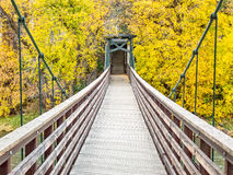 Foot bridge over the Animas River Royalty Free Stock Photos