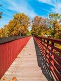Foot Bridge Over Creek Royalty Free Stock Photo