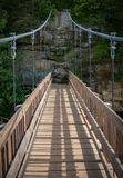 Foot Bridge. Over A River Royalty Free Stock Photo
