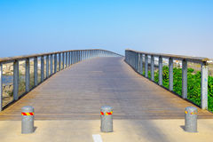 A foot bridge, part of the beach promenade, in Tel-Aviv Stock Photo