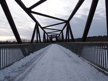 Foot Bridge In Winter Royalty Free Stock Photos