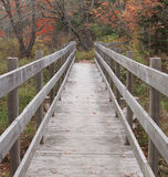 Foot Bridge. Wooden foot bridge in Autumn Royalty Free Stock Image