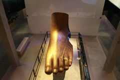 Foot of buddha. Foot building buddha in thailand Royalty Free Stock Photos