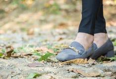 Foot businesswoman. stock photos
