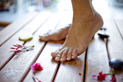 Foot care Stock Photography
