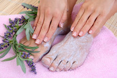 Foot care Stock Images