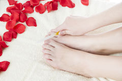 Foot care royalty free stock photography