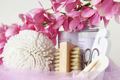Foot care items Royalty Free Stock Photos
