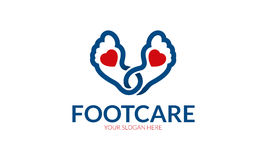 Foot Care Logo. Minimalist and modern foot logo template. Simple work and adjusted to suit your needs Stock Image