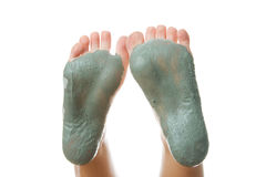Foot Care. Mud treatment stock photography