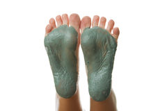 Foot Care. Mud treatment. Royalty Free Stock Photos