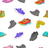 Foot care pattern, cartoon style Royalty Free Stock Photos