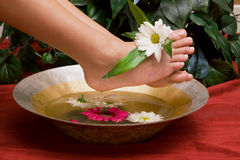 Foot care and pedicure Stock Images