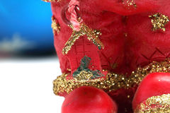 Foot ceramic Santa Claus Royalty Free Stock Image