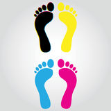 Foot CMYK Stock Photo