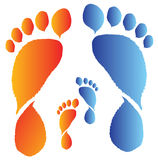 A foot company logo. Icon in colour Royalty Free Stock Image