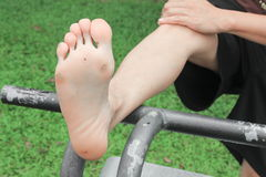 Foot corn :Select focus with shallow depth of field. Royalty Free Stock Photography