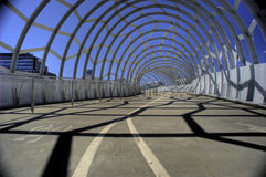 Foot and Cycle Bridge in Bright Sun Royalty Free Stock Image