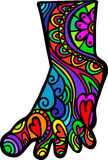 Foot Doodle Royalty Free Stock Photos