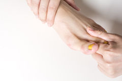 Foot dorsal massage Stock Image