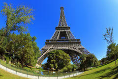 At the foot of the Eiffel Tower is park Royalty Free Stock Photos