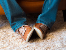 Foot expressions Royalty Free Stock Photos