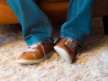 Foot expressions Royalty Free Stock Images