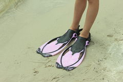 Foot flippers Stock Images