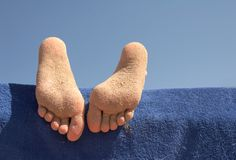 Foot of the girl Stock Image