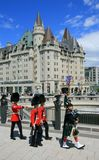 Foot Guards in Downtown Ottawa royalty free stock photo