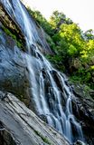 404 Foot Hickory Nut Falls. The 404 foot Hickory Nut Falls in Chimney Rock State Park, North Carolina royalty free stock photo