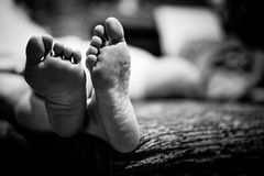 Foot of human Stock Photo