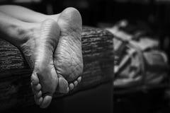 Foot of human Stock Image