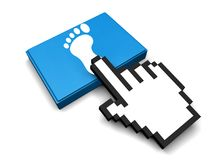 Foot Icon. 3D Illustration Foot Vector Icon Stock Image