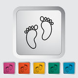 Foot icon Royalty Free Stock Photo