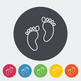 Foot icon Royalty Free Stock Photography