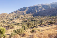 At the foot of the Ida mountain range on Crete Royalty Free Stock Images