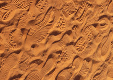 Foot Imprints - Background Royalty Free Stock Photo