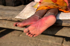 Foot of Indian Lady Royalty Free Stock Images