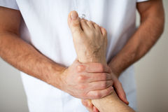 Foot injury Royalty Free Stock Images