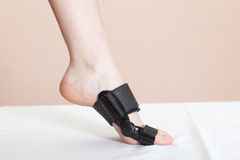 Foot injury (toe). Support for foot or big toe injury Royalty Free Stock Photos