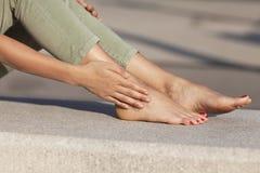 Foot injury Royalty Free Stock Image