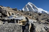 Foot of Kala Patthar mountain (5164 m ), Nepal, Everest region Stock Images