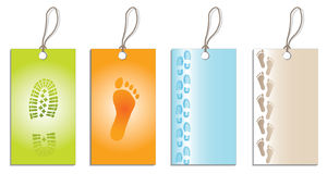 Foot labels Royalty Free Stock Photos