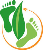 Foot leaf Royalty Free Stock Photography